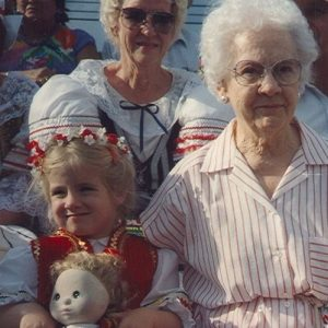Amanda and Great-Grandma Piter
