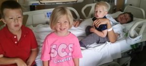 Kraston and Kids right before surgery