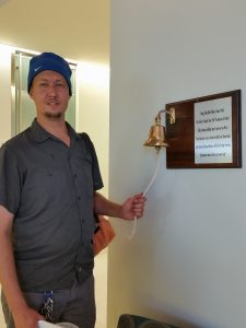 Kraston rings the bell after last radiation treatment